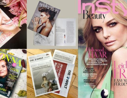Marina Jagemann, care magazin, séduction magazin, donna magazin, die welt, in style beauty magazin